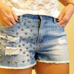 Look da Carola: short spike Forever 21 + regata renda H&M + coturno Uncle K