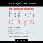 É hoje! Confira o Line-Up do primeiro dia do Iguatemi Fashion Days